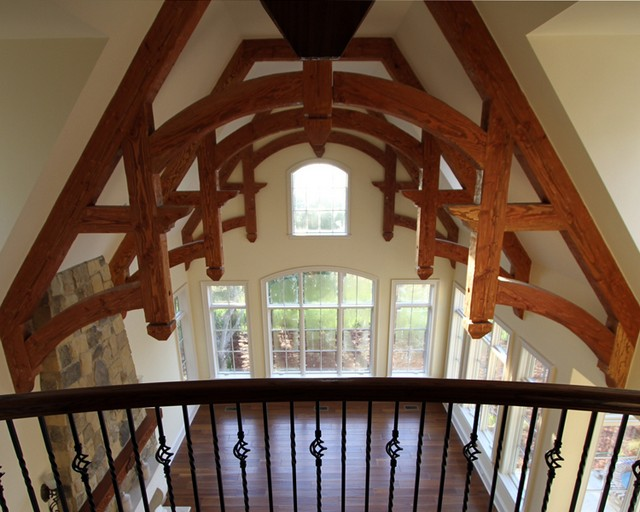 Heavy timber trusses structural decorative trusses for Timber trusses for sale