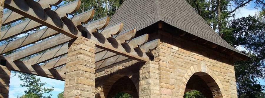 Heavy Timber Radius Trellis
