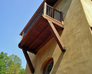 Heavy Timber Trusses Balcony